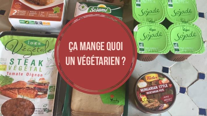 Et sinon, ça mange quoi un végétarien ? Des graines ?