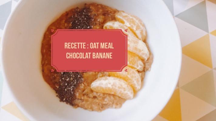 Oatmeal chocolat banane