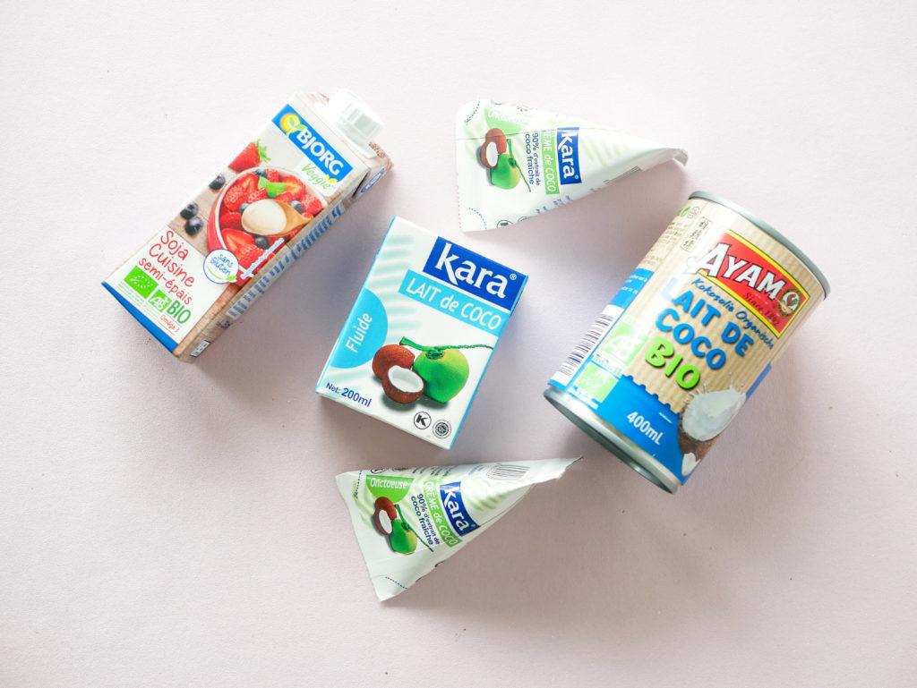 Remplacer la crème par de la crème végétale.