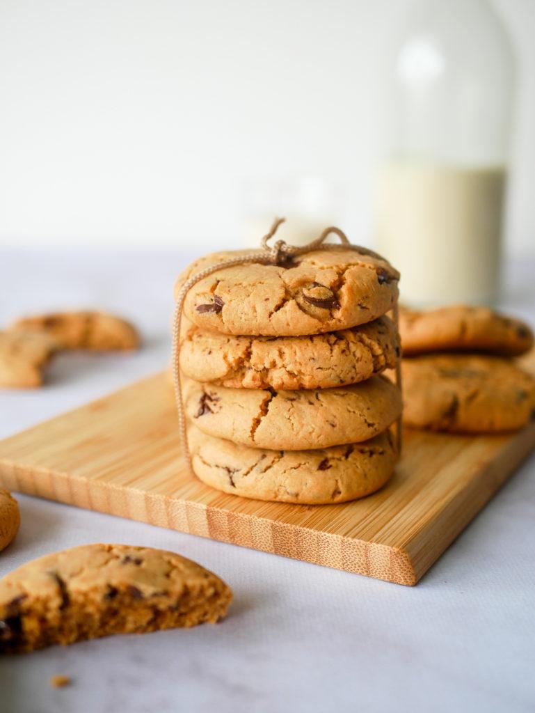 Cookies vegans et délicieux. Inutile d'utiliser du beurre pour avoir des cookies moelleux.