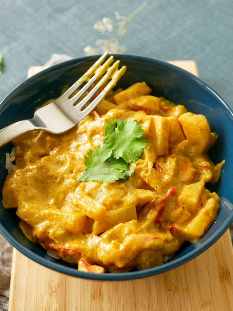 Curry au lait de coco de Cyril Lignac  vegan