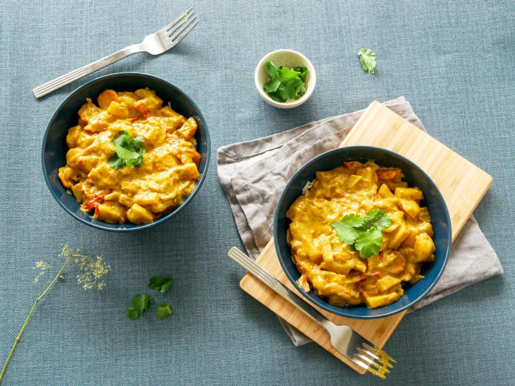 Curry au lait de coco de Cyril Lignac en version vegan