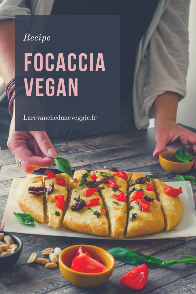 Epingle Pinterest : Recette de foccacia vegan
