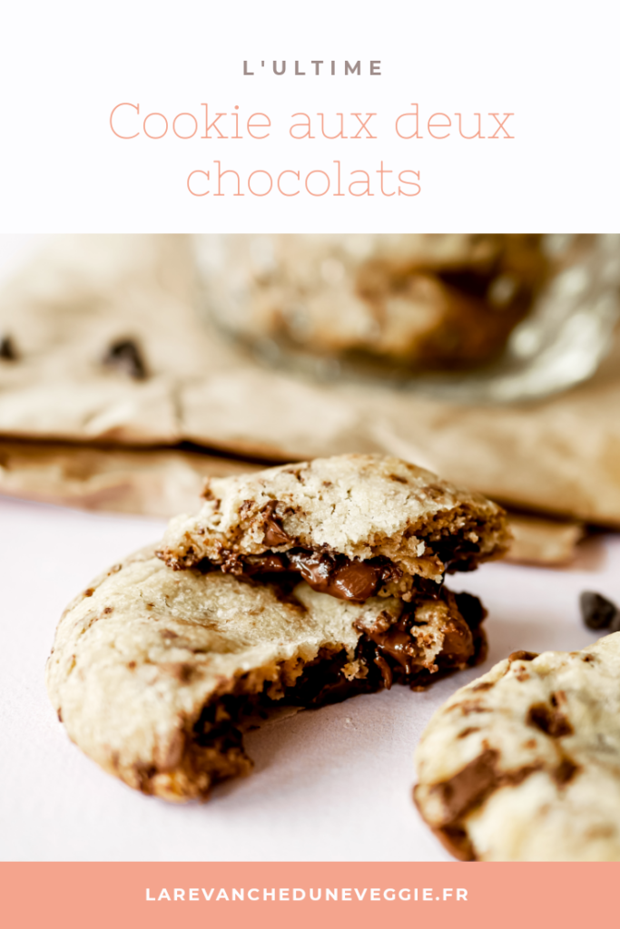 Epingle Pinterest : Cookie aux deux chocolat