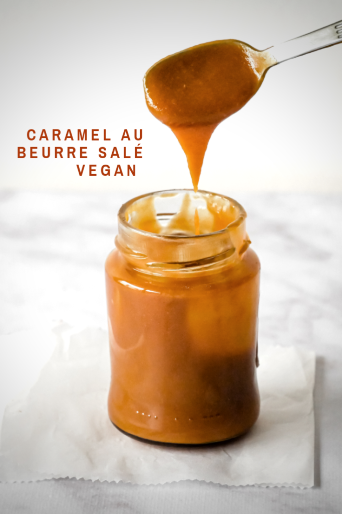 Epingle Pinterest : Caramel au beurre salé vegan