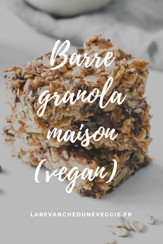 Epingle Pinterest : Barre granola vegan maison