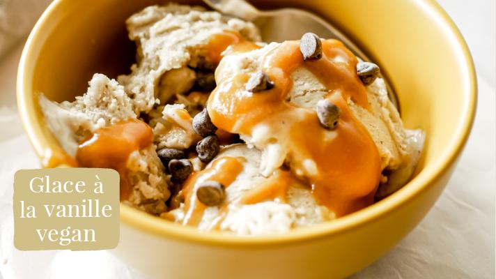 Glace vegan à la vanille sans sorbetière
