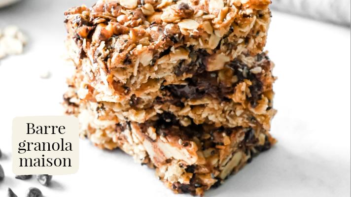 Barre granola vegan maison